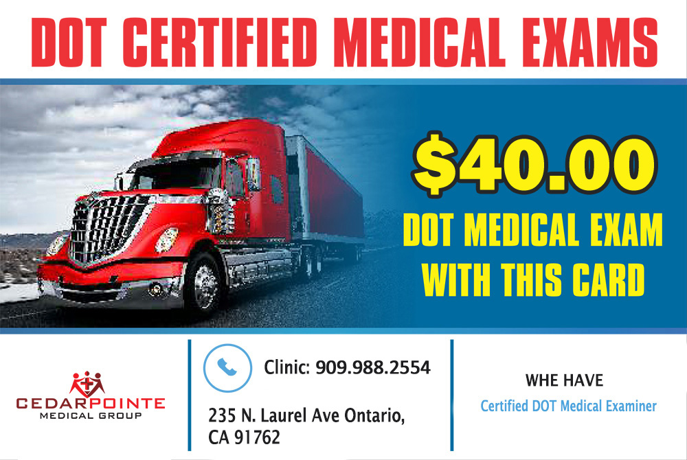 Home DOT certified medical exams